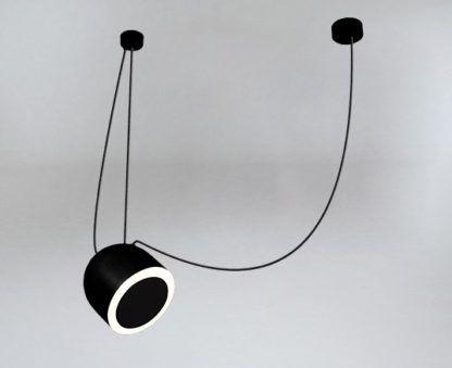 lampa z ukośnym owalnym kloszem
