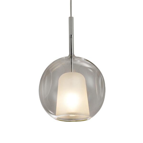 lampa wisząca z przeźroczystym kloszem