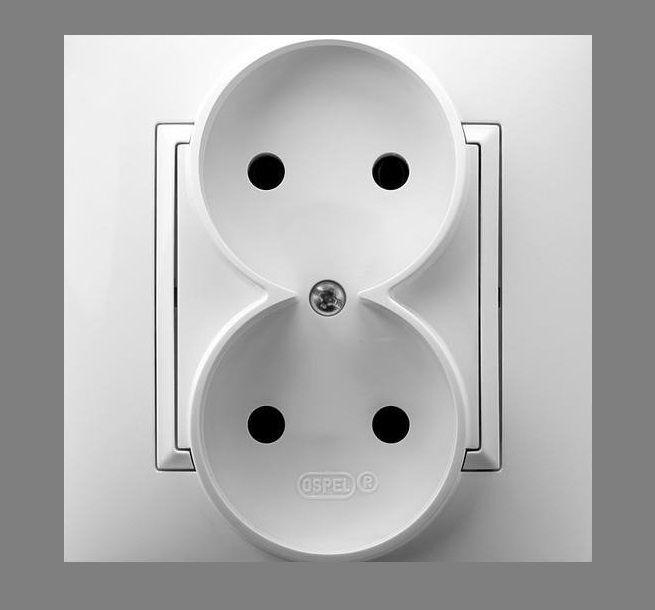 kontakt elektryczny biały ospel