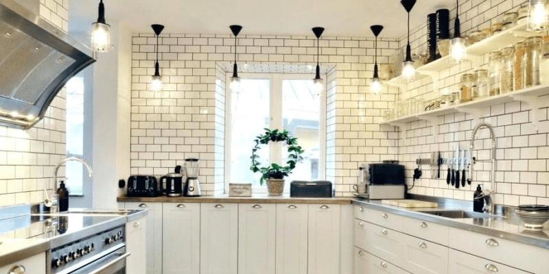 na jakiej wysokości lampy w kuchni