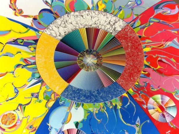 sufit w kolorowych pastelach