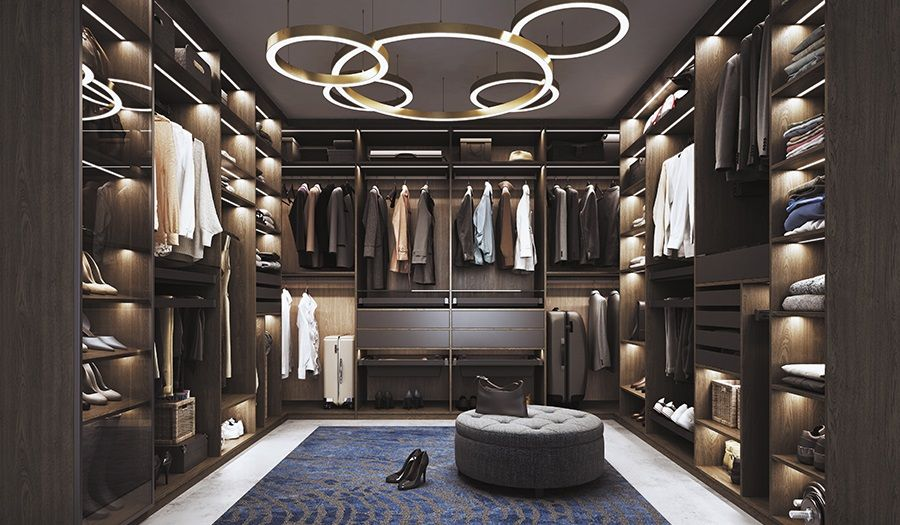 piękna garderoba w eleganckim stylu - aranżacje
