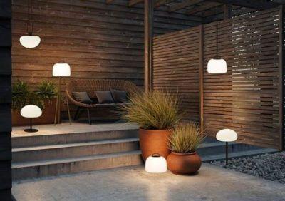 Bezprzewodowe oświetlenie  ogrodu - lampy i światło w ogrodzie