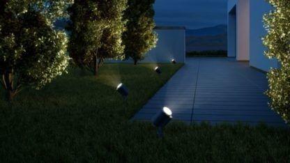 podświetlenie drzew w ogrodzie - reflektorki