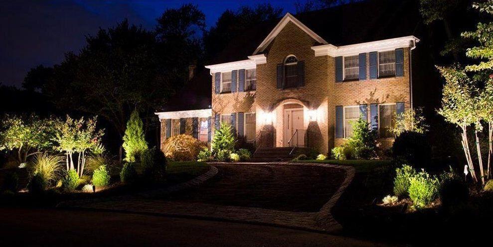 reflektorki wbijane do oświetlenia krzewów w ogrodzie