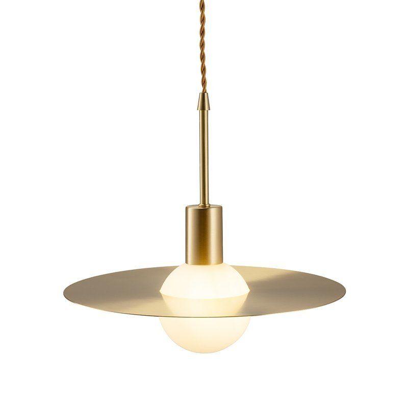 złota-lampa-wisząca-z-dyskiem