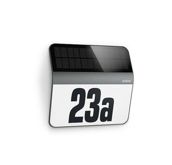 podświetlany solarny numer domu LED na elewacje