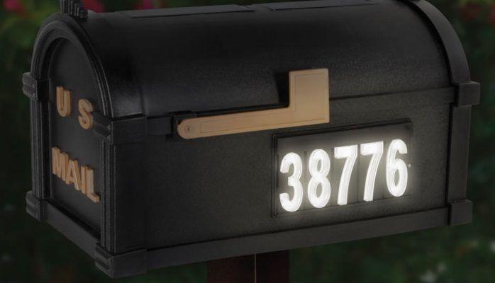 Skrzynka na listy z podświetleniem LED - numer domu i nazwa ulicy 2w1