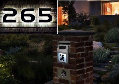 Numer na dom - podświetlany LED z nazwą ulicy i numerem budynku