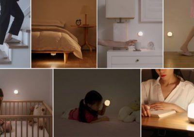 Małe lampki nocne do kontaktu dla dzieci od Yeelight