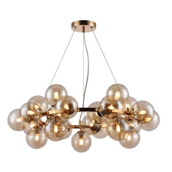lampa wisząca z bursztynowego szkła