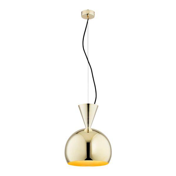 lampa wisząca złota kula w połysku