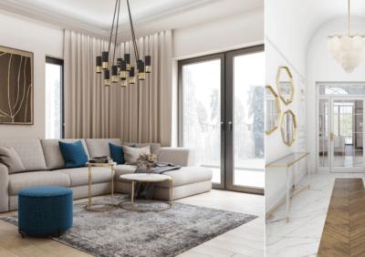 Projekty wnętrz w stylu Modern Classic – 5 najpiękniejszych aranżacji 2020