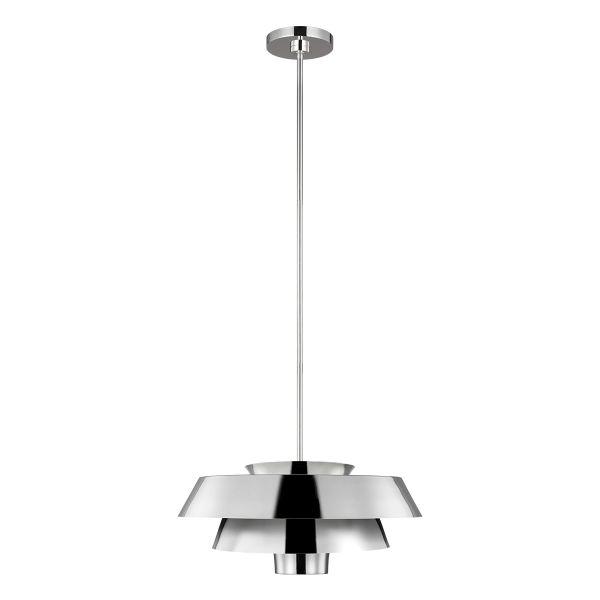 srebrna lampa wisząca nad stół modern classic