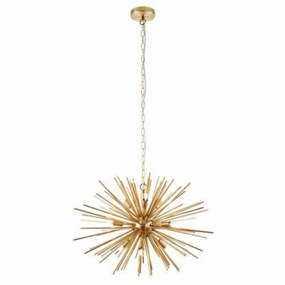 złota lampa wisząca sputnik