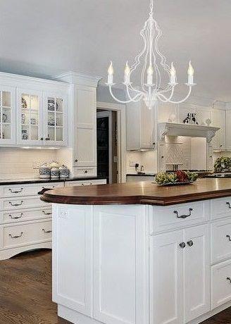 żyrandol w kuchni - pomysły