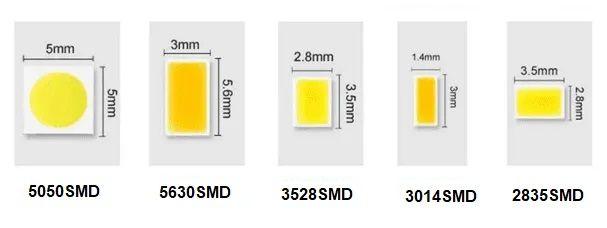 rodzaje i rozmiary diod SMD
