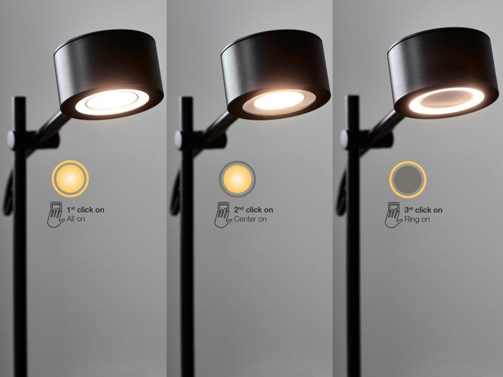 działanie funkcji MoodMaker w lampach stojących