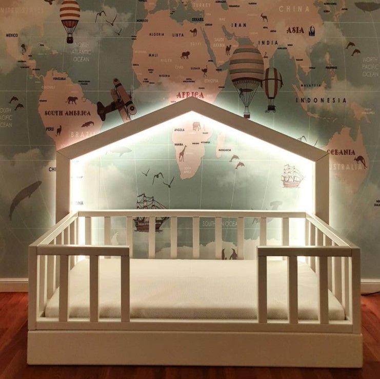 Oświetlenie LED za łóżkiem