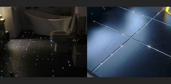 podświetlana podłoga w łazience