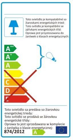 Etykieta energetyczna lampy do żarówek energooszczędnych