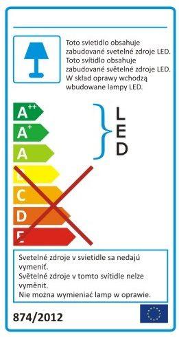Etykieta energetyczna lampy z wbudowanym, zintegrowanym źródłem światła LED