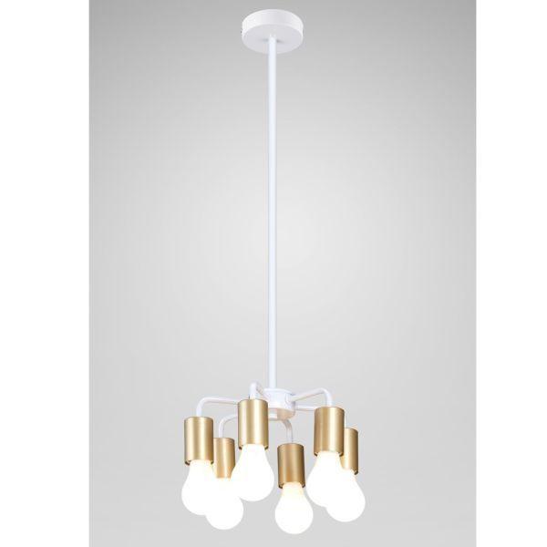Biała lampa wisząca Inga