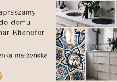Zapraszamy do domu Samar Khanefer! Galeria zdjęć łazienki z marmurem i złotymi dodatkami