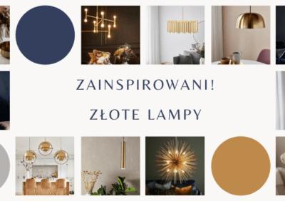 Zainspirowani! Złote lampy