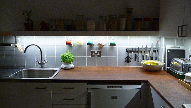 światło skupione w kuchni