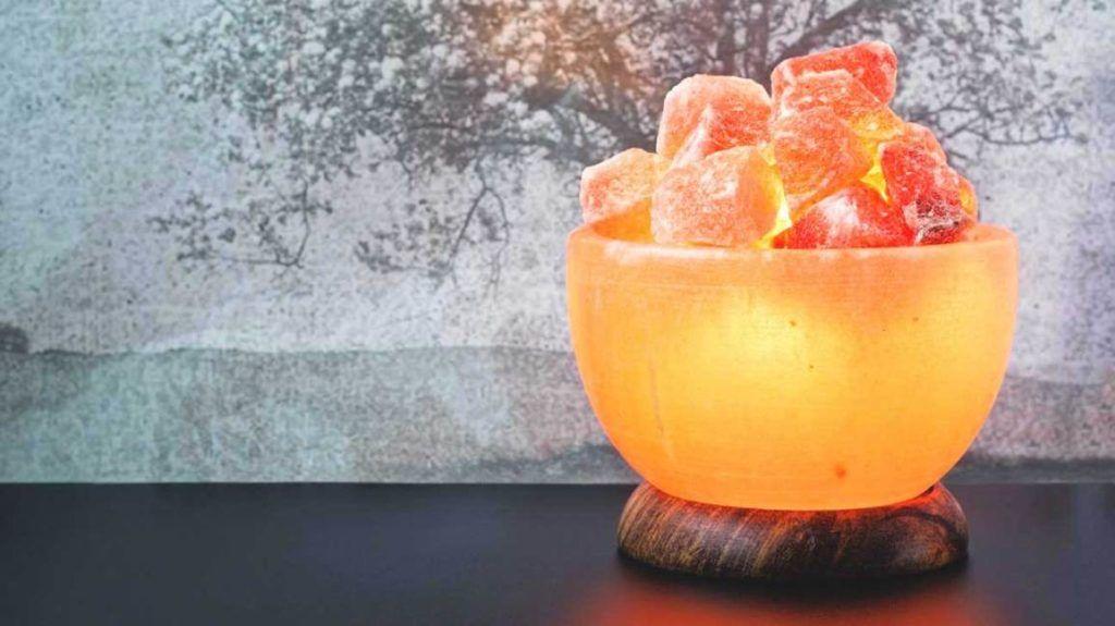kształtowana lampa solna himalajska