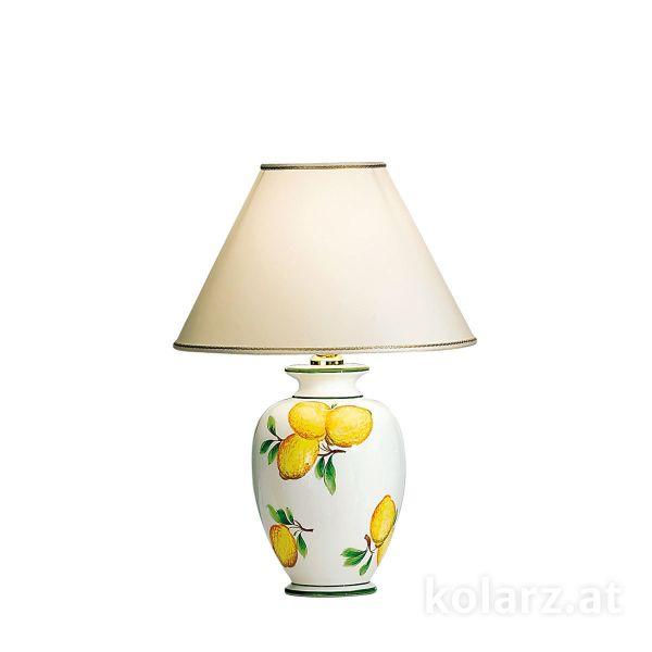 ceramiczna lampa stołowa biało-żółta