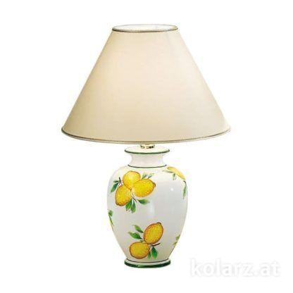lampa stołowa, ceramika, cytryny