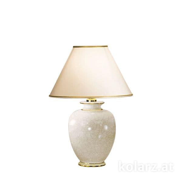 klasyczna lampa stołowa, spękana ceramika