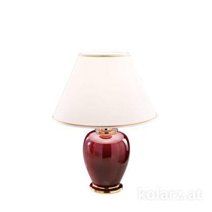 mała lampa stołowa, bordowa