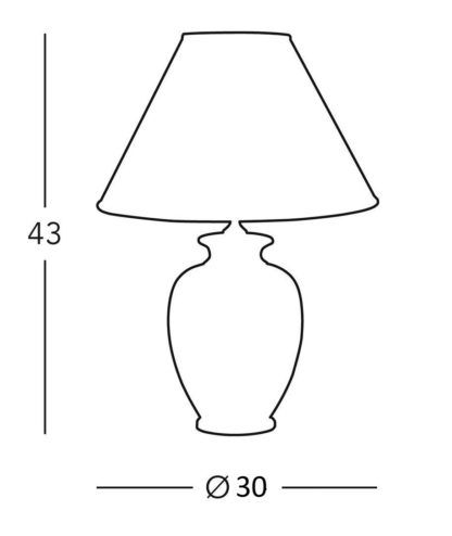 lampa stołowa z abażurem