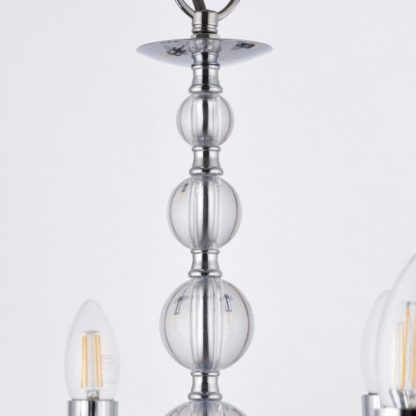 srebrny żyrandol szklane kule