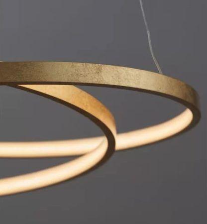 złota lampa wisząca nowoczesna