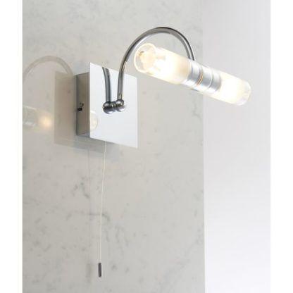 kinkiet łazienkowy srebrny
