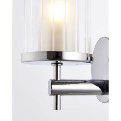 srebrny nowoczesny żyrandol łazienkowy