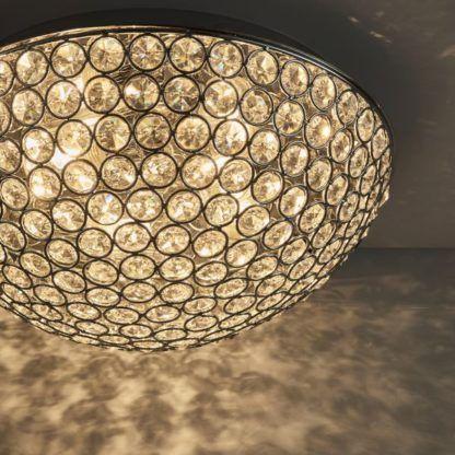 okrągły plafon z kryształkami