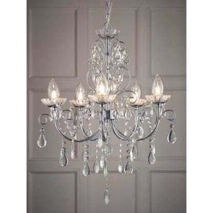 srebrny żyrandol kryształowy glamour