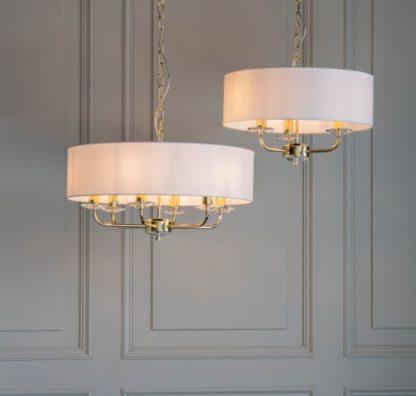 lampy wiszące modern classic jasny abażur