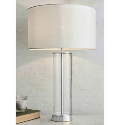 elegancka szklana lampa stołowa