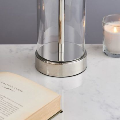lampa stołowa szklana podstawa