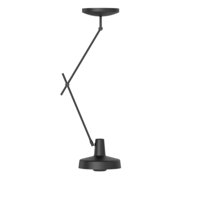 czarna lampa wisząca metalowe zawieszenie