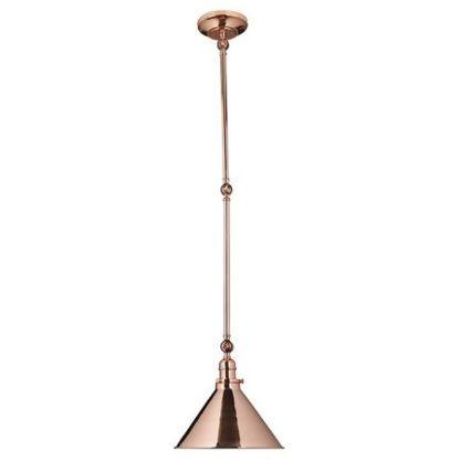 nowoczesna lampa wisząca miedź