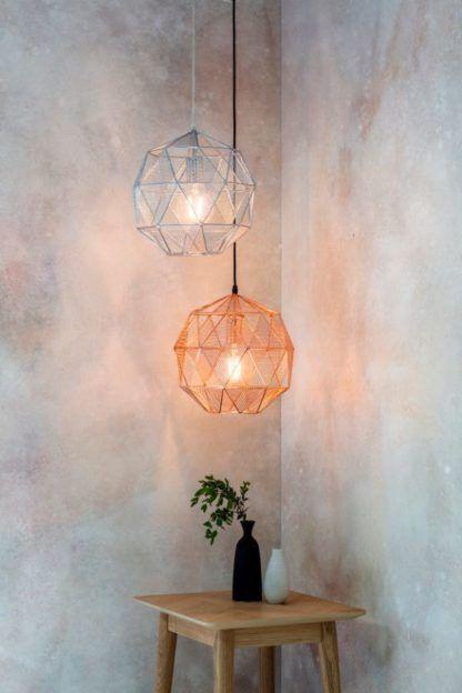 ażurowe lampy wiszące geometryczne