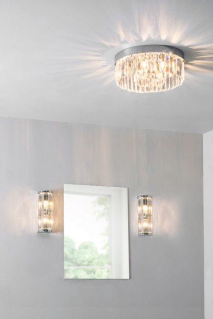 kryształowy plafon do łazienki