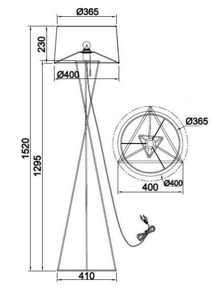 lampa podłogowa trójnóg
